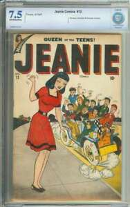 JEANIE COMICS #13 CBCS 7.5 OW/WH PAGES // FORMERLY ALL SURPRISE COMICS 1947