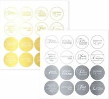 CRAFTWORK CARDS MESSAGES - IN CIRCLES EVERYDAY GOLD & SILVER FRIENDS DIE-CUT