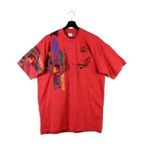 90s Reebok vintage t-shirt tshirt tee shirt black top bootleg men retro M L XL