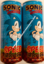 TWO Cans of Sonic the Hedgehog Energy Drink 355ml Sega American Import Collectib