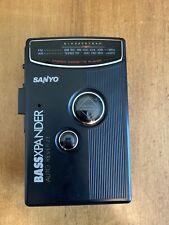 Sanyo BassXpander MGR200 Walkman FM/AM Radio Portable Cassette Player Tested