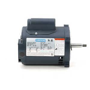 Leeson 100207.00 Electric Motor 1/2 HP 3600 Rpm 1PH 115/208-230 Volt 56J Frame