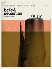 BELLE & SEBASTIAN CONCERT POSTER LIMITED EDITION SCREEN PRINT CONCEPCION STUDIOS