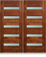 "California Design - 72""x96"" Exterior Unfinished Modern Mahogany Pre-Hung Doors"