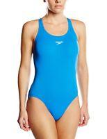 Speedo Womens Essential Endurance  Medalist Swimsuit Swimsuit, Neon Blue, 14 36