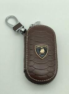 Key Chain Case  Brown For Lamborghini