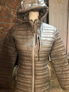 Patagonia Women's Sz XS Ultralight Down Hoody Jacket Feather Grey  EXCELLENT