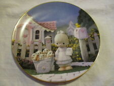 "Precious Moments 1993 Plate ""God Loveth A Cheerful Giver"" 7 1/2"" Plate # 25Gocc"