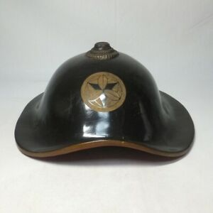D1115: High-class, real old Japanese lacquered SAMURAI's hat JINGASA for DAIMYO