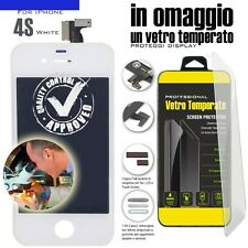 TOUCH SCREEN PER APPLE IPHONE 4S BIANCO VETRO DISPLAY LCD RETINA SCHERMO