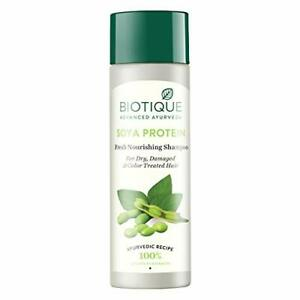 Biotique Bio Soya Protein Shampoo for Dry Damaged and Color Treated Hair, 120ml