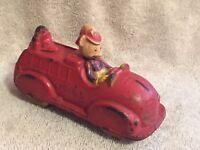 1930s Original Sun Rubber Walt Disney Mickey Mouse / Donald Duck Fire Truck Toy