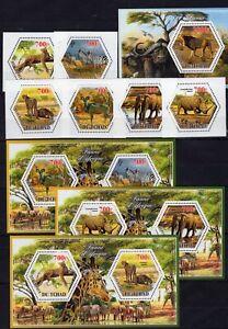 Animals Guepard Elephant Hippi  MNH** Del.8