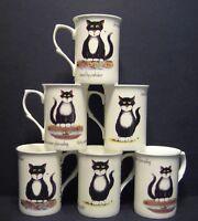 3 Set Of Three  MOGGIE OR CAT Fine Bone China Mugs Cups Beakers