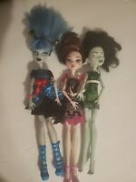 Monster High Dolls Lot Of 3 See Pics