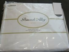 Peacock Alley 6P 300Tc Sateen Queen Sheet Set White 4 pillowcases $400