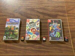 Super Mario Party + Minecraft + Mega Man 11 (Nintendo Switch LOT) Tested