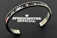 Speedometer Official Silver Steel With Black Amp Red Insert Bangle Bracelet