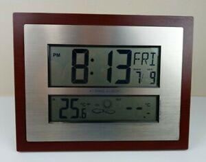 La Crosse Technology W86111 Atomic Digital Wall Clock/Stand & Manual