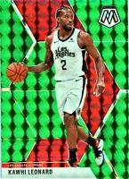 HOT Green Kawhi Leonard 2019-20 Mosaic RARE Sp Prizm Holo #78 LA Clippers Jersey