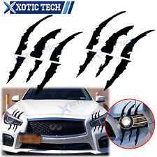 Black Monster Claw Scratch Decal Reflective Sticker For Infiniti G35 G37 2000-21