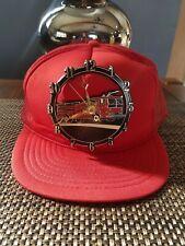 Vintage Fire Truck Clock Hat Mesh Snapback Baseball Cap Madhatter WORKS