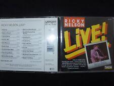 CD RICKY NELSON / LIVE /