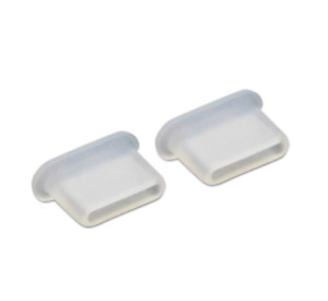 2x USB TYPE-C ANTI-DUST PLUG STOPPER CLEAR SILICONE for SONY XPERIA X COMPACT