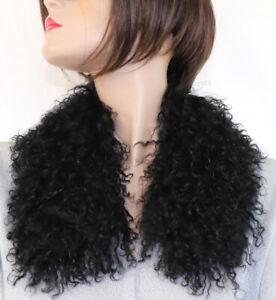 Scarf Bubi Collar Fur Tibet Lamb Lambskin Lamb Fur Scarf Collar Black