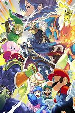New Super Smash Bro's HUGE    Wall  Poster 32 in x 41 in ( Fast Shipping )