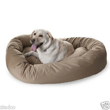"""Huge 52"""" Round Dog Pet Large Breed XL Bagel Bed for 70 - 110 Lb Dogs KHAKI NEW"""