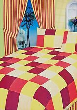 DOUBLE BED DUVET COVER SET ODESSA TERRACOTTA ORANGE YELLOW MULBERRY BEDDING