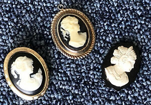 Vintage Collection Of Cameo's - Jewellery Items