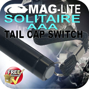 MAGLITE UPGRADE SOLITAIRE AAA TACTICAL TAIL CAP SWITCH W-LANYARD PUSH BUTTON AU