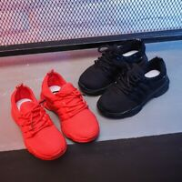 Kids Boys Girls Children Mesh Trainers Running Sport Casual Sneakers Shoes Size