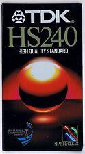 VHS VIDEOCASSETTA  TDK HS240  HS 240 HIGT QUALITY STANDARD SIGILLATA!!!