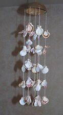 "20"" COCONUT HAT & SCALLOP  SEA SHELL WIND CHIME  BEACH TROPICAL CHANDELIER"