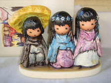 "DeGrazia ""WEE THREE"" Goebel Figurine 6.5"" Long Retired Germany NIB MINT"