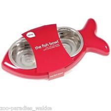 Futternapf The Fish Bowl Doppelnapf Wassernapf Fisch - Katze - rot 44381
