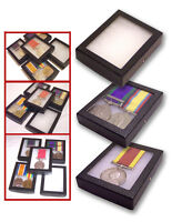 1 Glass Display Case British German French US Italy WWII Single Pair Medal Badge