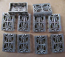 40PC 12*17mm Retro Tibetan Silver 3 Holes Carved Spacer Beads Charms PJ005