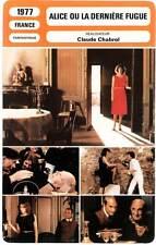 ALICE OU LA DERNIERE FUGUE kristel (Fiche Cinéma)1977 Alice or the Last Escapade