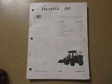 Versatile 160 loader tractor parts manual