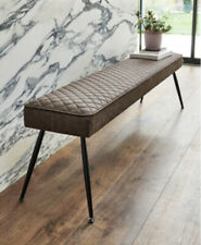 NEXT HAMILTON BENCH MONZA FAUX LEATHER CHARCOAL LUXURY LONG BENCH NEW BOXED £180