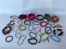 Mixed bulk lot vintage chic retro bangle bracelets metal bead resin enamel