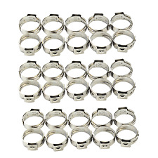 1/2 inch PEX Stainless Steel Clamp Cinch Rings Crimp Pinch Fitting 30 pcs