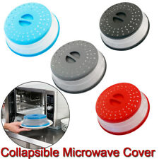 Cover Dish Drainer Basket Splatter Screens Collapsible Microwave Cover