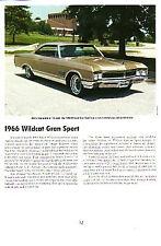 1966 Buick Wildcat Gran Sport Article - Must See !!