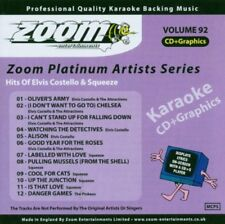 Zoom Karaoke Platinum Artists Vol. 92 CD+G - Hits Of Elvis Costello & Squeeze
