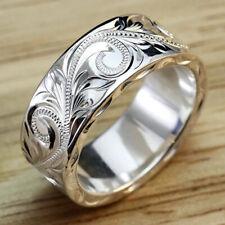 Simple Women,men Rings 925 Silver Rings Women Party Jewelry Gifts Rings Sz 6-10